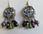 Earrings pearls and cabochon woman cavaleras