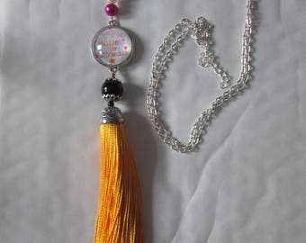 """""""Coolest mistresses"""" tassel necklace end of year gift"""
