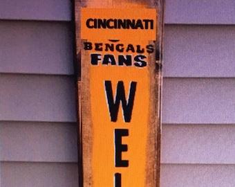 Cincinnati Bengals Welcome Sign
