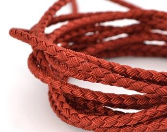 1 M braided cord 3mm brick red