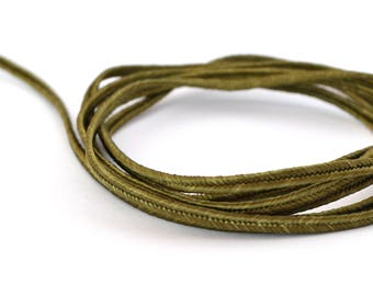 Cord 3mm khaki soutache Christmas made in France