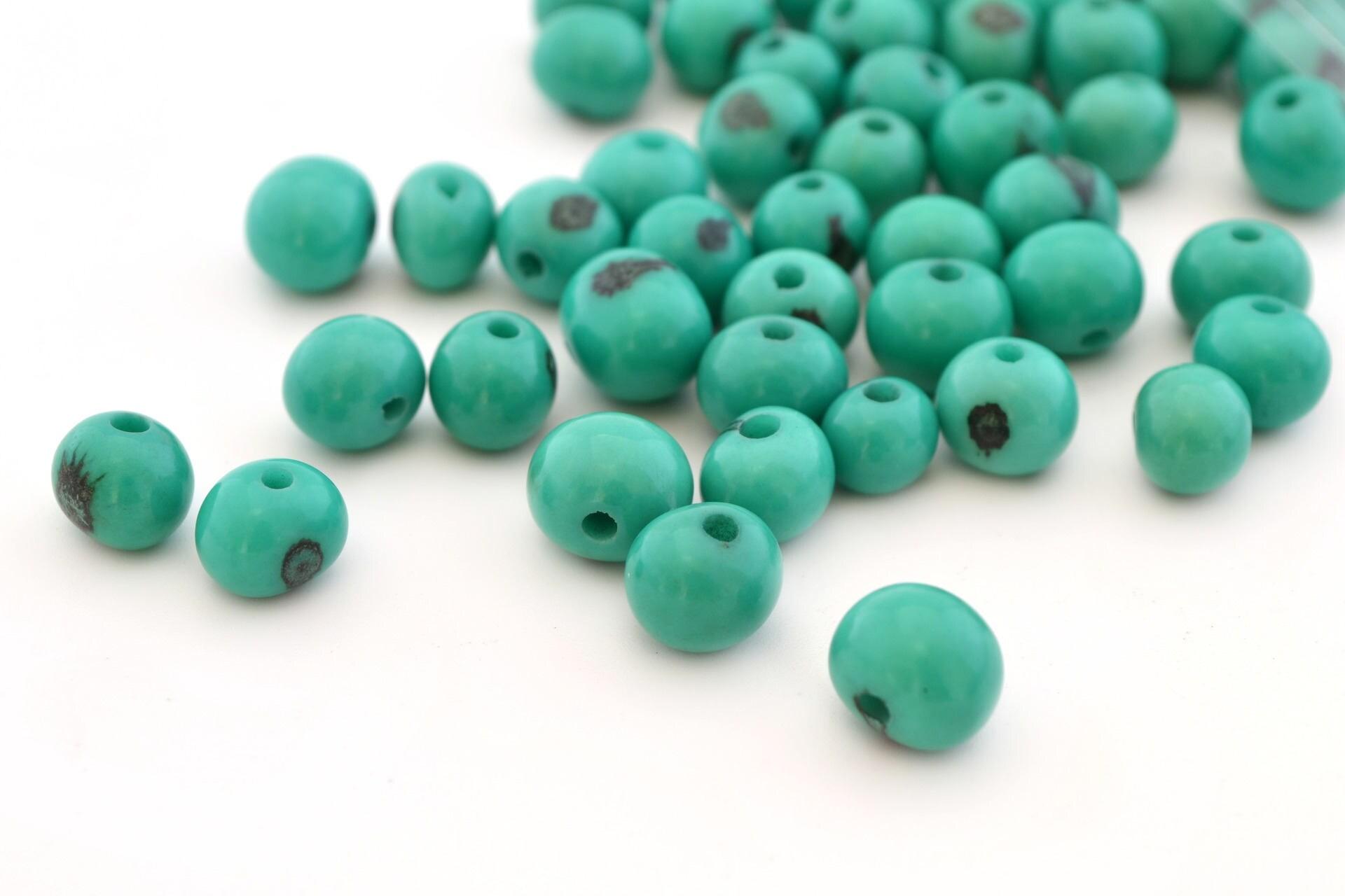 10 perles rondes vert meraude en graines d 39 a a 6 10mm etsy. Black Bedroom Furniture Sets. Home Design Ideas