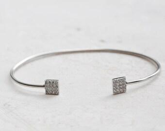 Silver Bangle - Delicate Bracelet - Silver Bangle -Bangle Bracelet - Delicate Bangle