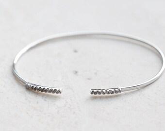 Silver bracelet - simple silver bracelet . silver bangle - bangle bracelet - delicate bangle