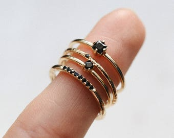 Tiny gold ring - stacking ring - delicate  ring - delicate gold ring - Gold ring - Dainty jewelry - R069
