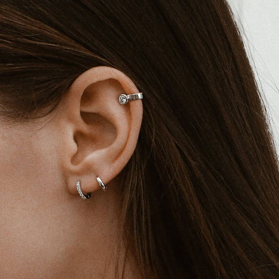 1c115b211 Small simple hoops Tiny Hoops 8mm Hoops Earrings Small   Etsy