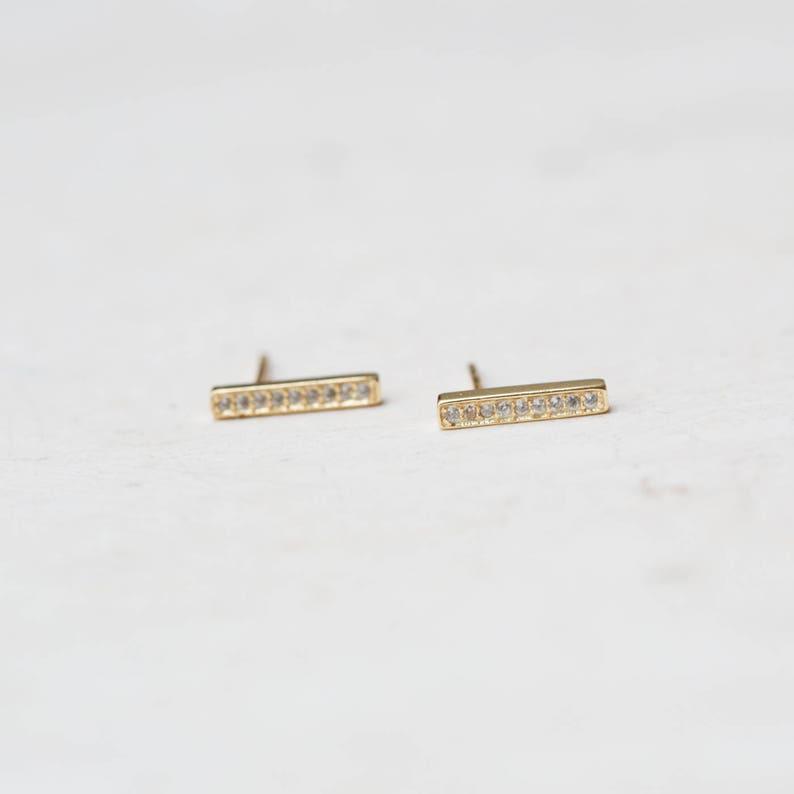 E009 Delicate studs Delicate stud earrings Bar stud earrings Line Earrings Minimalist Jewelry