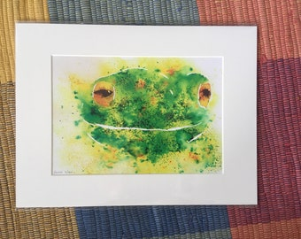 Watercolour Frog, Parrot, Fox, pig