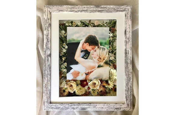 Dahlia Box 14x18 Real Flowers Bouquet Preservation Etsy