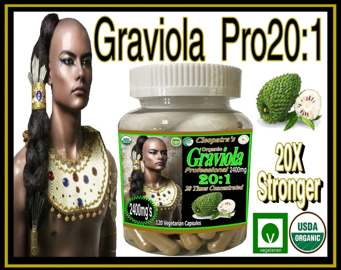 2400mg's Graviola Professional / Soursop Pro 20:1 , 20 X's Stronger than the Leading Brand x 120 Vegetarian Capsules