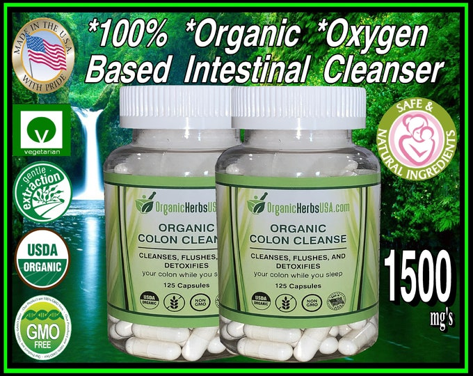 Organic Elemental Magnesium Colon Cleanser Oxygen Based for Superior Cleansing Deep In your Tissues 125 Vegetarian Capsules