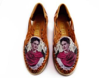 4158a597f70 huarache sandals Frida Kahlo
