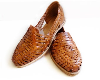 d86ae68ea55a Mexican Huaraches Sandals Tan