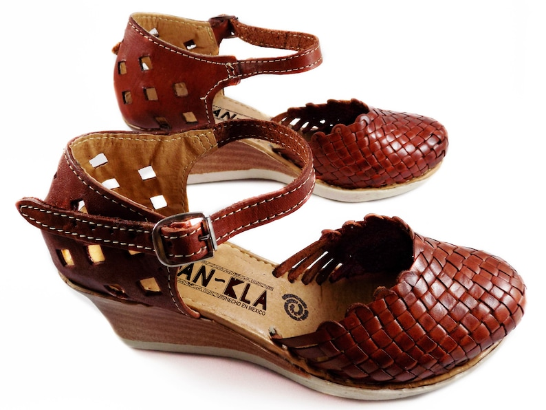 Huaraches Sandals Platform Brown