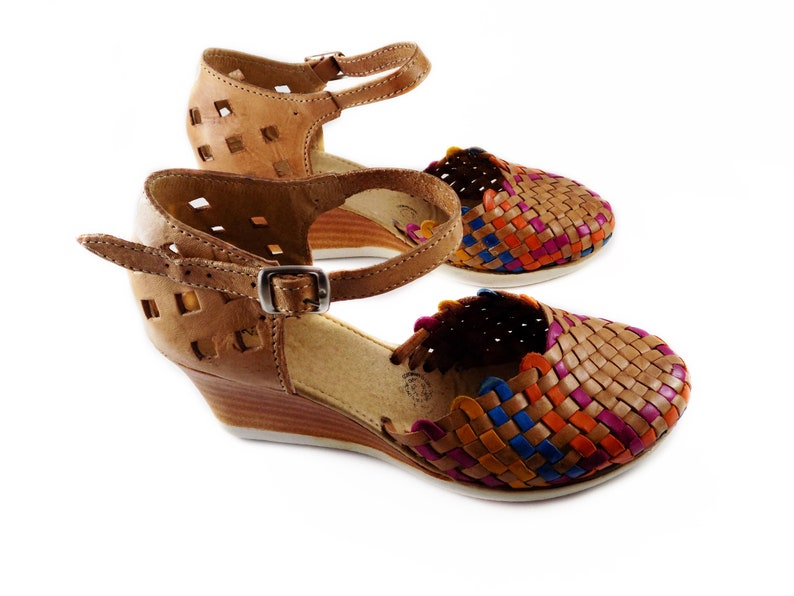 a4ce5fc1565a3 Huaraches sandals platform tan colors