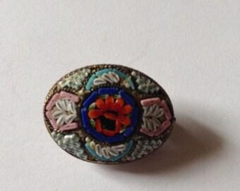 Vintage Micro Mosaic Brooch RM