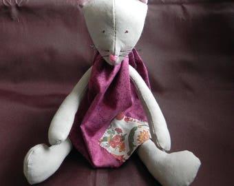 Grey cat Tilda plum dress