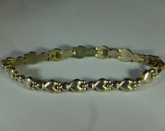 Beautiful Eternal Love Heart Silver Bracelet Vintage