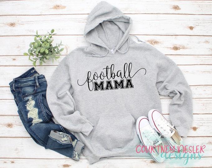 Featured listing image: Football Mom Hoodie, Mama, Momma, Nana, Nonny, Nanny, Mimi, Aunt, Auntie, Gigi