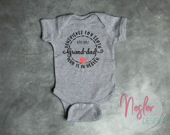 Memorial Bodysuit, Handpicked for Earth by my Grand-dad Who is in Heaven