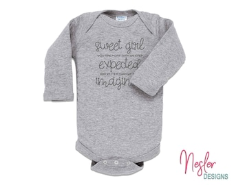 Sweet Girl, Sentimental Baby Gift, Infant Bodysuit, Baby Girl Shower Gift, Coming Home Shirt, Miracle Baby Girl, Personalized Gift
