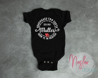 Memorial Bodysuit, Handpicked for Earth by my Mutter Who is in Heaven
