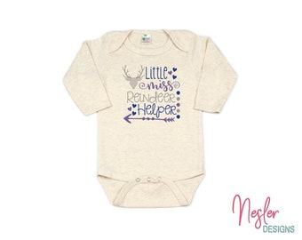 Christmas, Little Miss Reindeer Helper, Ice Queen Theme, Infant Bodysuit, Baby Girl Shower Gift, Coming Home Shirt, Personalized Gift