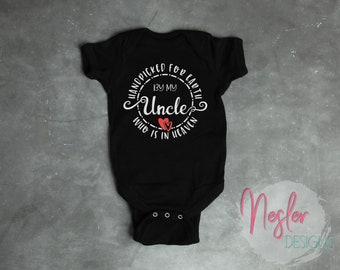 Memorial Bodysuit, Handpicked for Earth by my Uncle Who is in Heaven