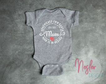 Memorial Bodysuit, Handpicked for Earth by my Mum Who is in Heaven