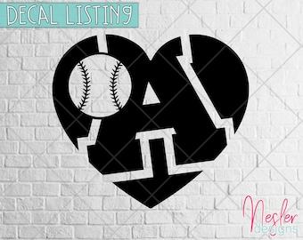 Baseball Monogram Decal