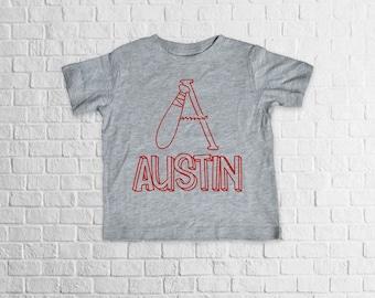 Baseball Monogram Shirt, toddler shirt, monogram shirt