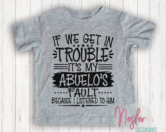Infant If We Get In Trouble It's My Abuelo's Fault Because I Listened To Him