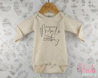Such a Big Miracle in Such a Little Boy, Infant Bodysuit, Baby Boy Shower Gift, Coming Home Shirt, Miracle Baby Boy, Personalized Gift