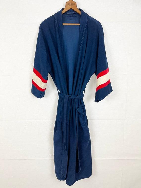 Vintage 70's Blue, cream & red robe.