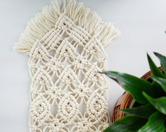 Macrame Home Decor, Small Table Runner, Table Centerpiece, Wedding Place Mat, Table Decoration, Boho Home Decor, Macrame Art, Gift for Her