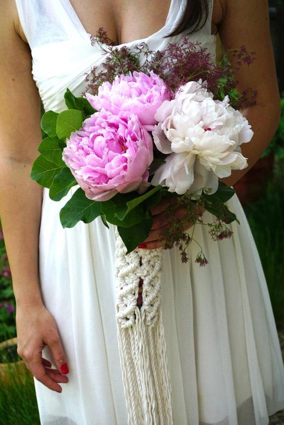 Hochzeit Bouquet Wrap Brautstrauss Halter Makramee Bouquet Etsy