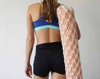 Yoga Mat Bag, Yoga Mat Carrier, Yoga Gift, Pilates Mat Bag, Gift for Yogi, Yoga Accessories, Sports Bag, Net Yoga Bag, Bag for Yoga Mat