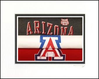 Arizona Wildcats Vintage Sports Art