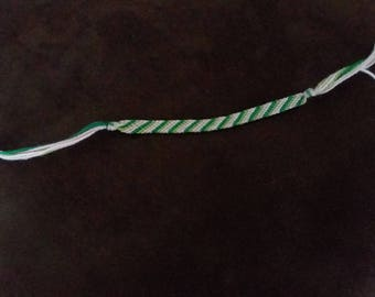Two Pinks and Two Greens Macrame Bracelet