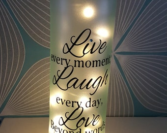 Live,Laugh,Love bottle light