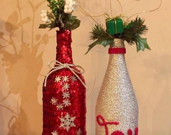 Noël de JOIE vin bouteilles