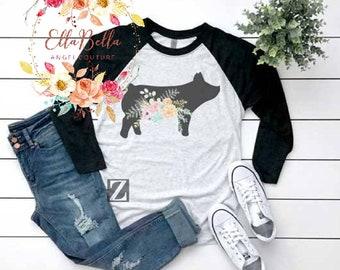 6841167fe Show pig T-shirt, Livestock shirt
