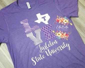 e3948ad1e Tarleton State University t-shirt TSU Texans tee