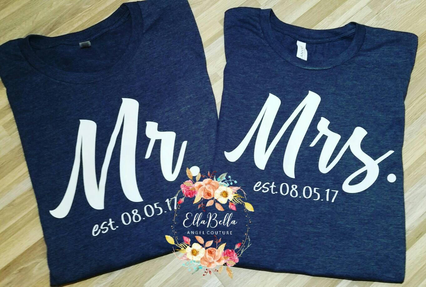 2ed482121e Personalized Wedding Shirts Engagement shirts His and her | Etsy