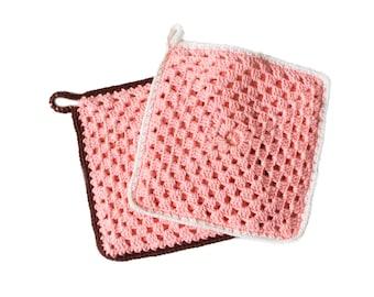 Crochet pot holders square