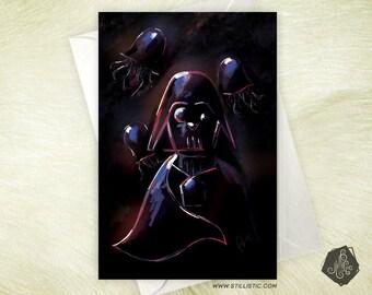 Friendship birthday Dark Vader jellyfish Star Wars greeting card