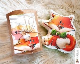 Kit DIY couture fabrication coussin doudou licorne renard panda ours pour enfant, ado, adulte débutants