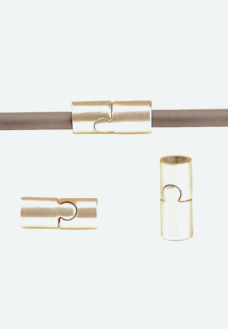 6mm FERMGCR616LOR571 Golden Light TUBE Magnetic Metal Clasp for Round Leather