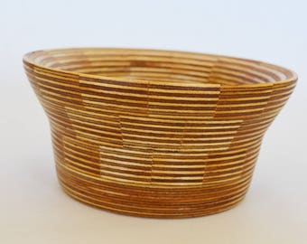 Segmented wood turned bowl - Wooden bowl - Handmade bowl - Thick wall