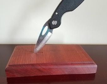Bloodwood Knife Holder